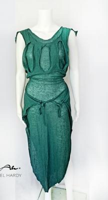 Авангардна лятна тюркоазена рокля