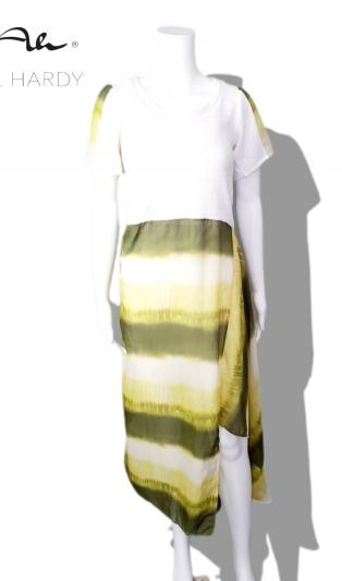 Лятна олив омбре рокля