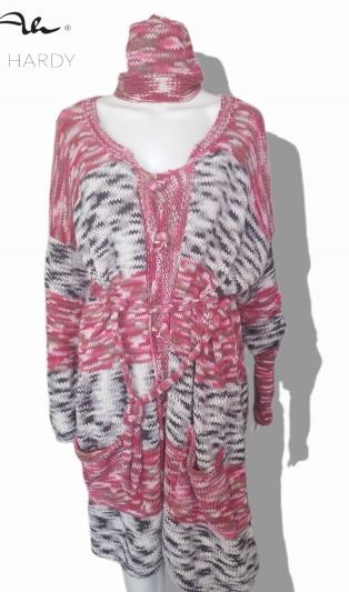 Цветна бохемска ръчно плетена жилетка