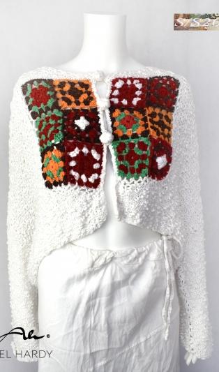 Boho-chic  hand knitted cardigan NOT AVAILABLE