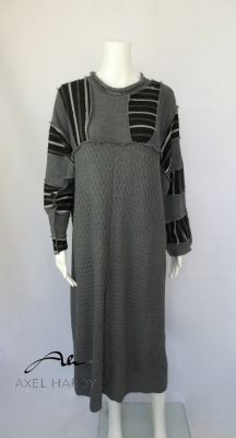 Фънки макси топла рокля