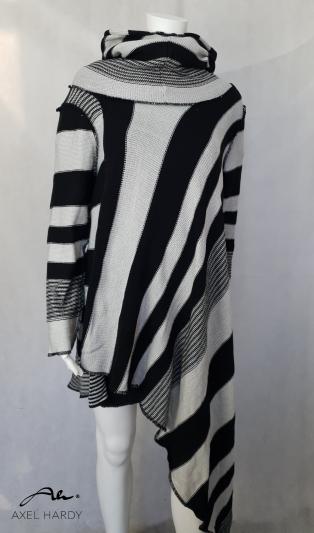 Асиметрична блуза/туника в райе