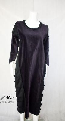 Макси  рокля в тъмно лилаво