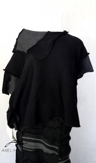 Антрацит блуза в свободен силует