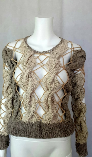Hand knitted BOHO jumper NOT AVAILABLE