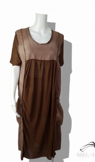 Funky dress plus size in earth colors