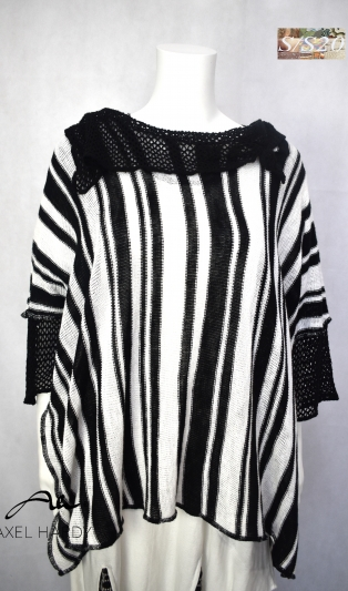 Striped soft knited funky top