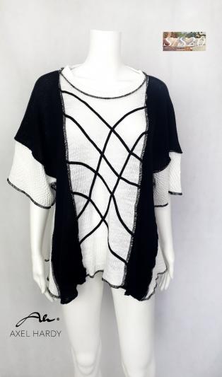 Funky B&W knit top