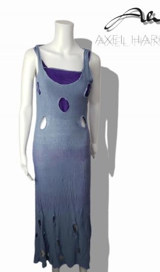 Fashionable fine knit linen T&D dress