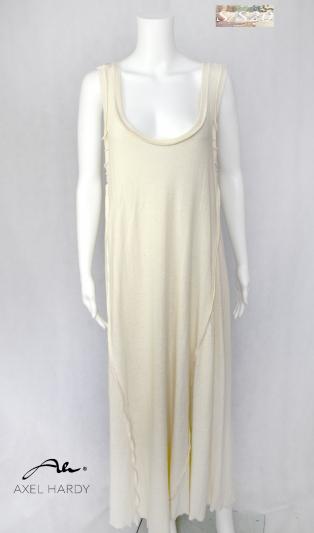 Фино плетена рокля в естествен цвят на памука
