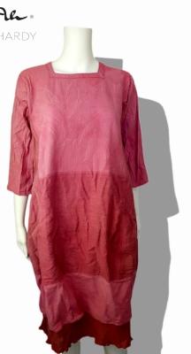 Винтидж еко рокля МАГНОЛИЯ батик състарен ефект