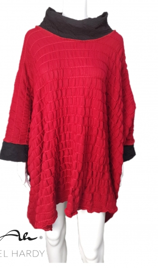 Cosy warm red poncho