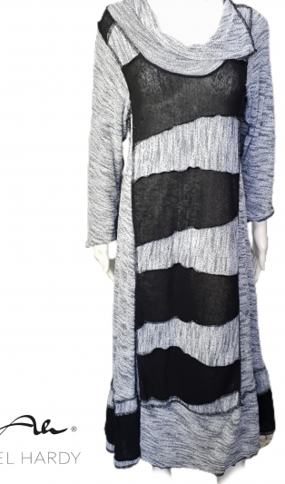 Икона рокля  пачуарк черно и сиво