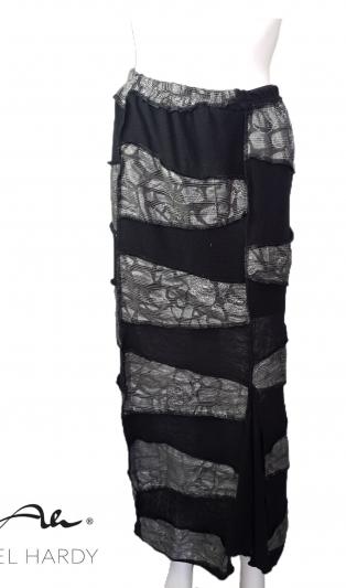 Пачуарк уникална пола в комплект в черно/сребриста гама