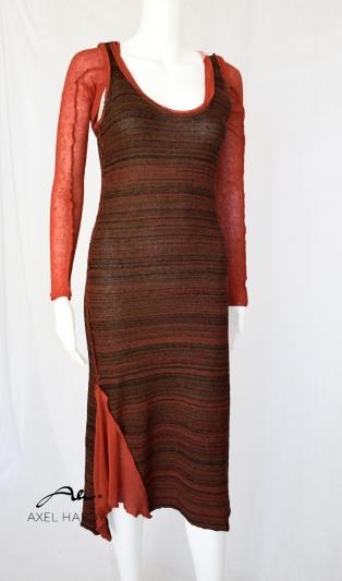 Меланжирана  плетена рокля