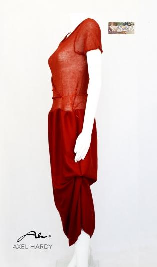 Multy  ethno linen knit dress