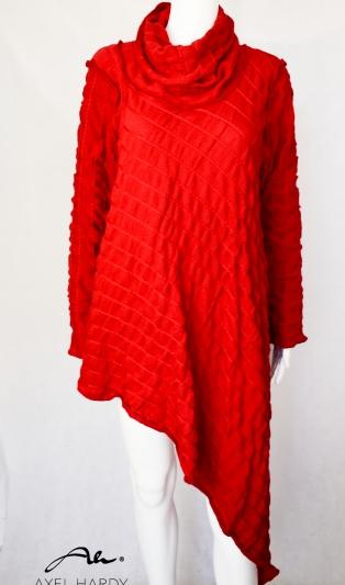 Асиметрична червена блуза/туника