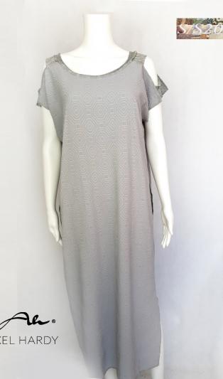 Pale grey dress funky style