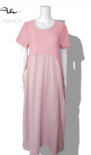 Прелестна пастелно розова  рокля