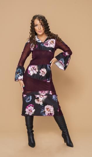 Уникална рокля ФЕМА пачуарк с качулка
