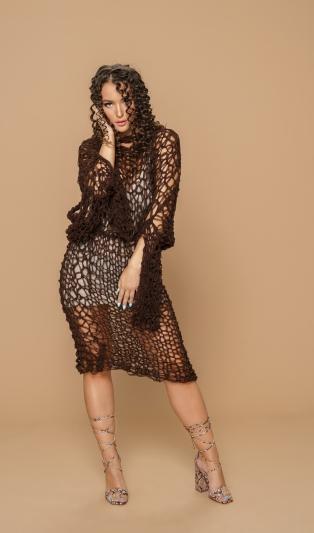 Avant-garde hand knitted dress /top