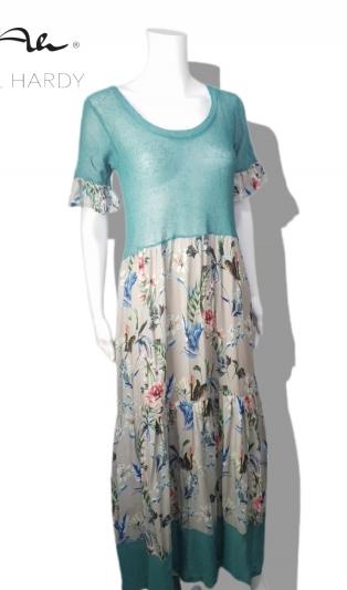 Романтична  лятна рокля на цветя и волани