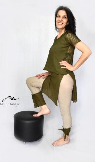 Linen khaki/beige pants