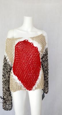 Ръчно плетена блуза Геометрия