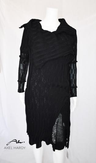 Черна плетена  жилетка