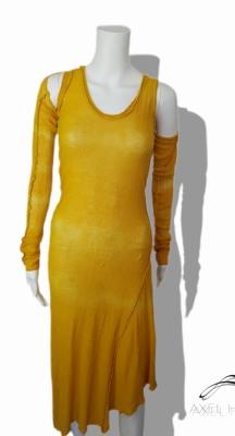 Фино плетена ленена рокля Минзухар в 2 части