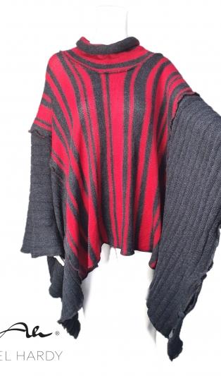 Many ways to wear unique poncho