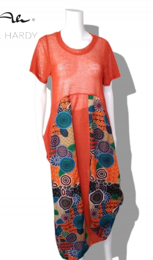 Ethno boho  rustic dress