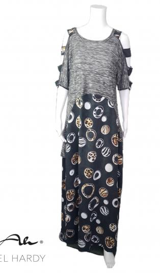 Макси фънки рокля Комфорт от ефектен плат
