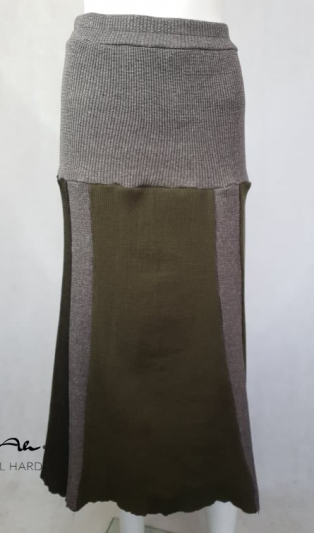 Плетена миди пола