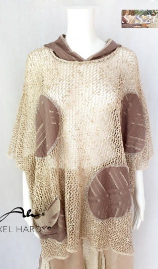 Fashionable  one size knit hoody