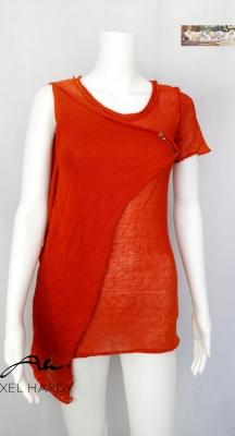 Мулти ленена рустик блуза