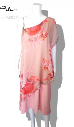 Женствена  лятна рокля на цветя с едно рамо