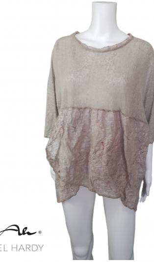 Фънки ленена блуза с бродерия