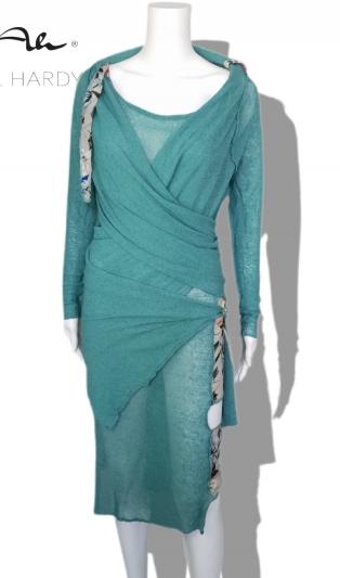 Летен релакс сет оформяща рокля и мулти жилетка
