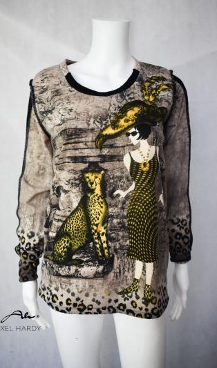 Блуза в красив леопардов принт