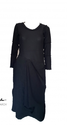 Черна нестандартна рокля