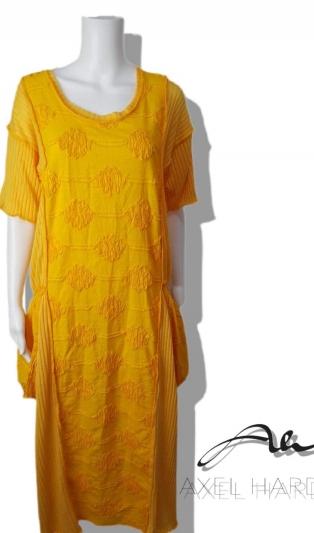 Слънчева макси рокля в свободен силует