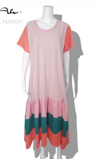 Прелестна цветна рокля на волани Дъга