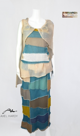 Мултифункционален ленен фино плетен комплект