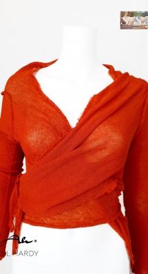 Мулти ленена плетена жилетка