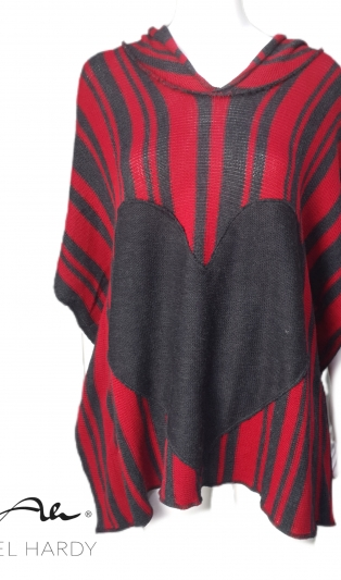 Lovely warm hoody  poncho with heart