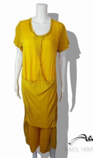 Fashionable yellow dress