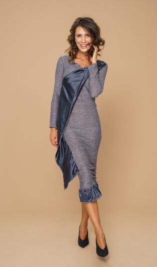 Луксозна рокля с естествена коприна