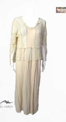 Лятна ленена плетена рокля/туника