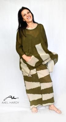 Фънки ленена плетена блуза